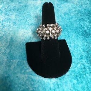 Sputnik Faux Diamond Ring